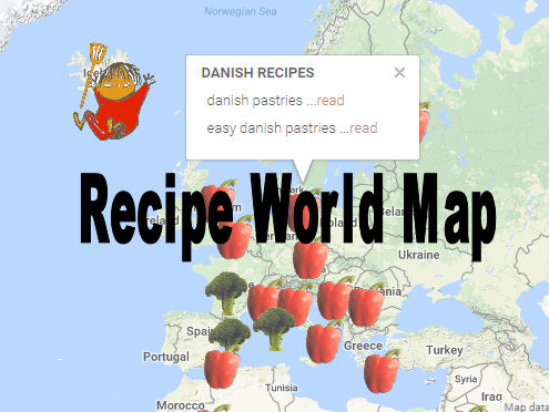 Recipe world map