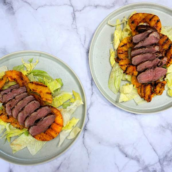 oven roast duck breast with pineapple