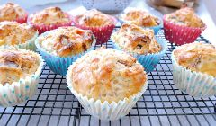 sweetcorn and bacon muffins
