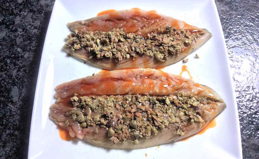 Mackerel with stuffing