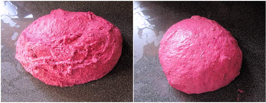 Beetroot dough