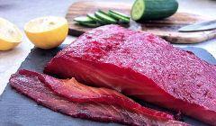 beet cured salmon