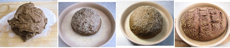 Shaping black bread