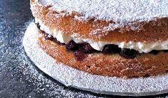 blueberry cream sponge