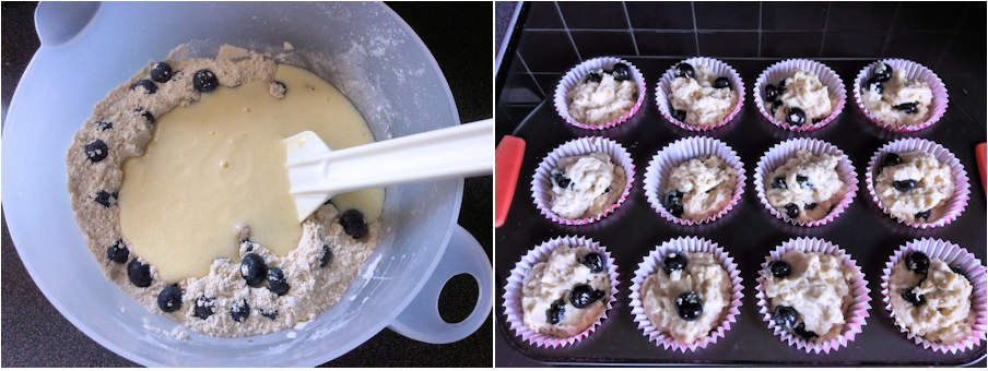 Muffins: wet and dry ingredients