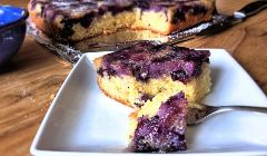 blueberry upside down polenta cake