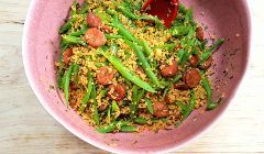 bulgur with chorizo and beans