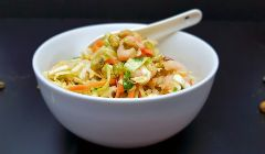 cabbage and prawn salad bowl