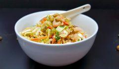 cabbage and prawn salad bowl