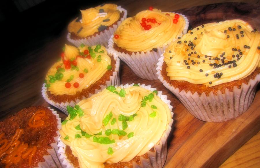 Carrot Cupcakes With Orange Frosting | Recipe | Cuisine Fiend