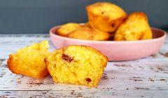 cherry cornmeal muffins