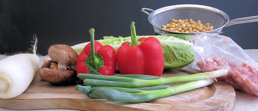 Chickpea salad ingredients