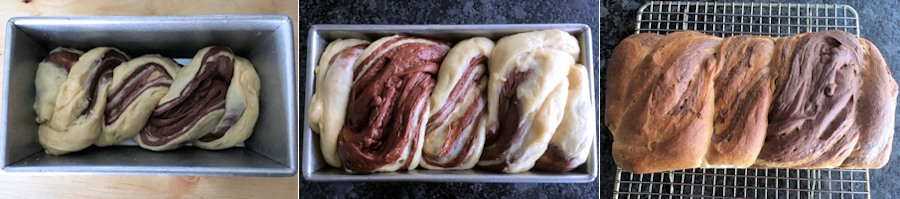 Braided bread in tin