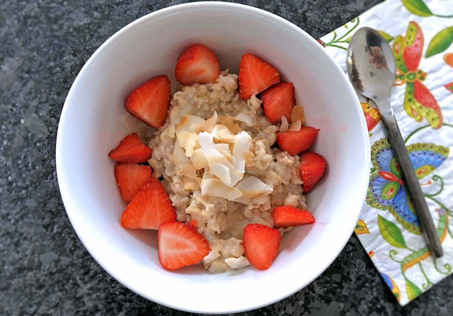 Dairy free porridge with coconut milk