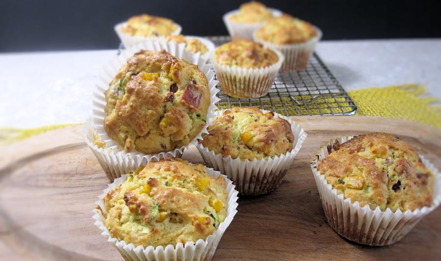 Corn and bacon muffins