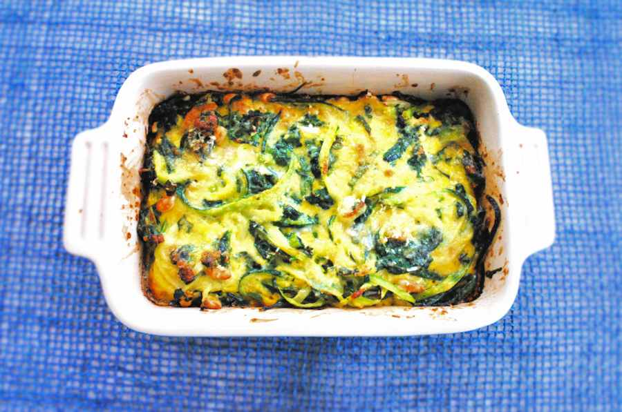 Spinach courgette tian