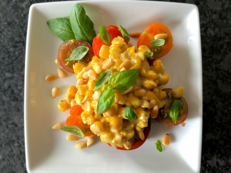 Creamed corn and tomatoes