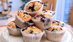 fancy blueberry muffins