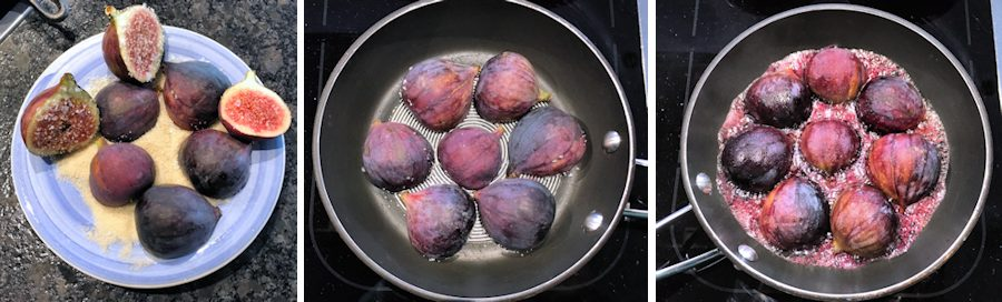 cooking caramelised figs