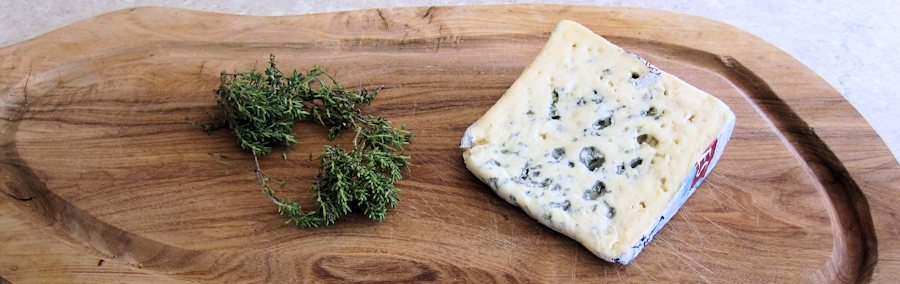 Blue cheese and thyme