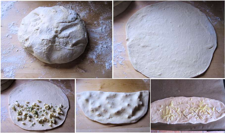 Shaping fougasse roquefort