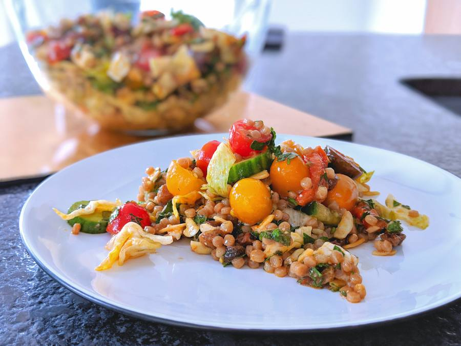 israeli couscous with feta