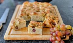 grape and cheese focaccia