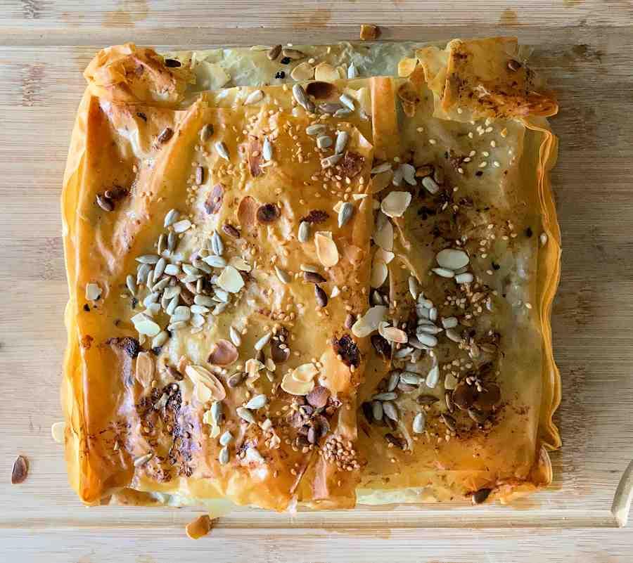 Greek Lamb And Spinach Filo Pie Recipe Cuisine Fiend