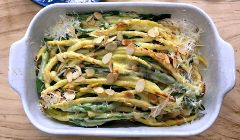 green beans with parmesan cream