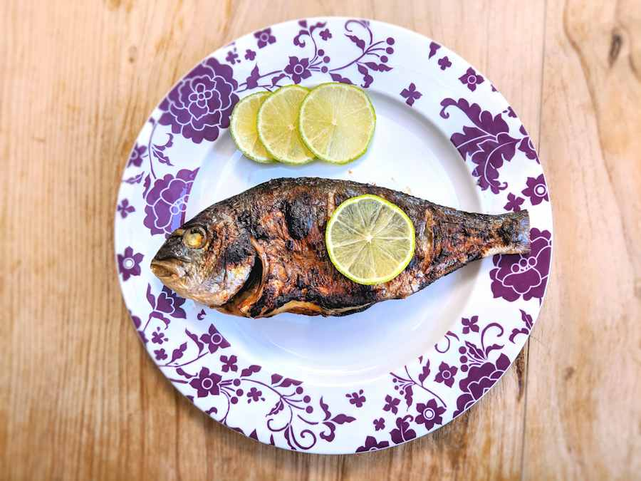 grilled balsamic bream