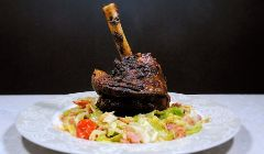 lamb shank with cabbage