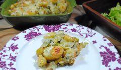 Leek and potato bake