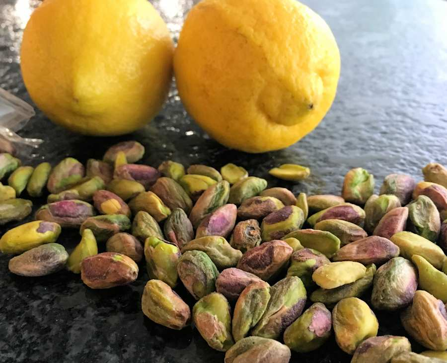 lemons and pistachios