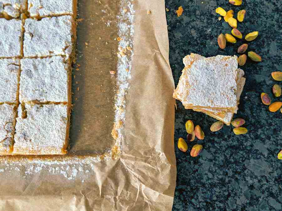 lemon pistachio bars