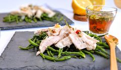 seabass samphire salad