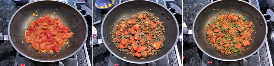 cooking lentil chorizo stew