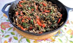 lentils with mushrooms