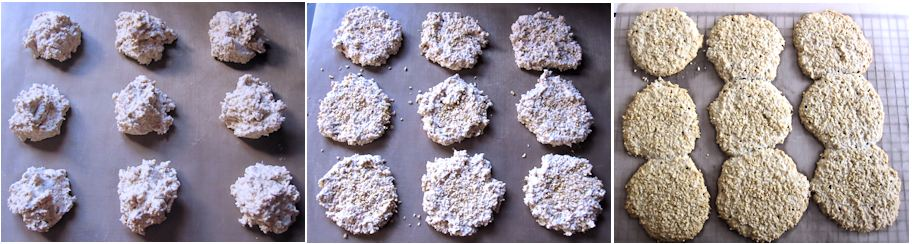 Making oatmeal biscuits