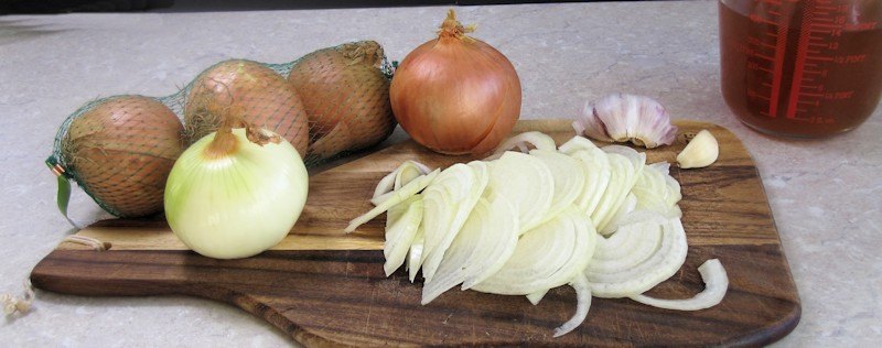 Onions and stock