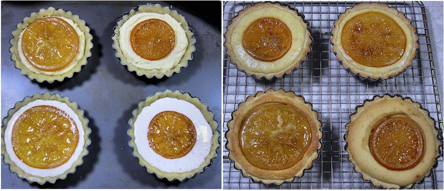 Almond and ricotta tartlets
