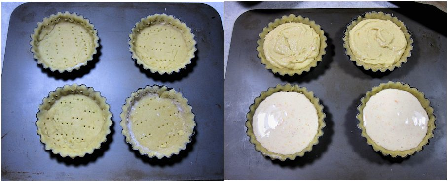 Tartlets with two fillings