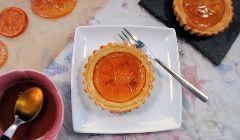 candied orange tartlets