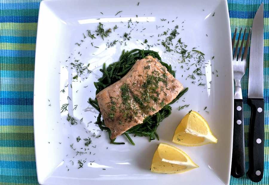 Oven steamed sea trout recipe cuisine fiend for Oven temperature for fish