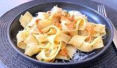 pappardelle with chanterelles