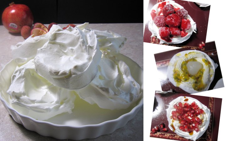 Meringues with berry filling