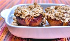 peaches with blue cheese