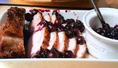 pork with blueberry sauce