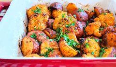 potato and chorizo tray bake