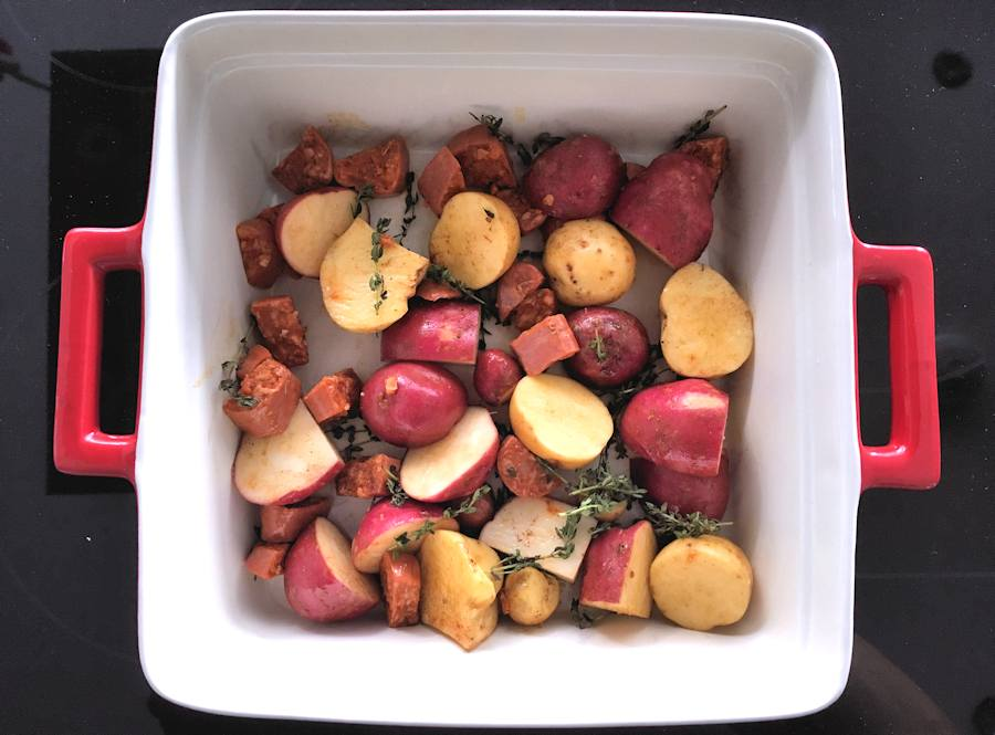 potatoes and sausage casserole