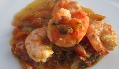 prawns with tomato stew